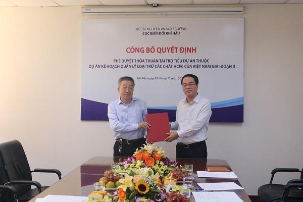 Phê duyệt thỏa thuận tài trợ tiểu dự án đầu tiên cho doanh nghiệp loại trừ các chất HCFC