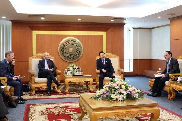 Bộ trưởng Trần Hồng Hà tiếp và làm việc với các đối tác quốc tế